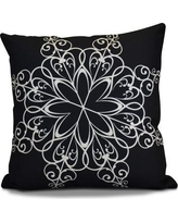 """The Holiday Aisle Decorative Holiday Print Throw Pillow HLDY1531 Color: Navy Blue, Size: 18"""" H x 18"""" W"""