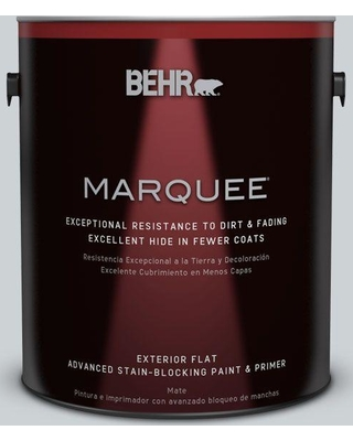 BEHR MARQUEE 1 gal. #N510-1 Silver Shadow Flat Exterior Paint and Primer in One