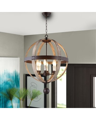 Don T Miss Deals On Halloway 6 Light Candle Style Globe Chandelier Gracie Oaks