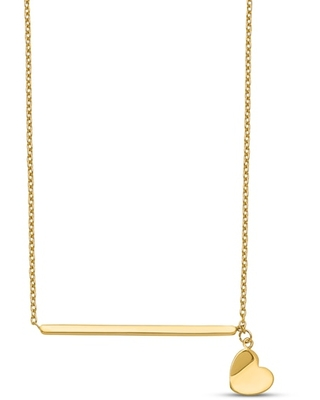 Jared Heart Necklace 14K Yellow Gold