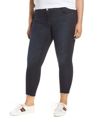 Wit & Wisdom Ab-solution High Waist Ankle Skinny Jeans, Size 24W in In-Indigo at Nordstrom