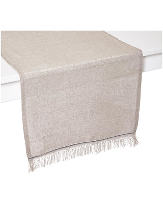 "Venice Table Runner - Beige/Silver - Mode Living - 90""L x 16""W"