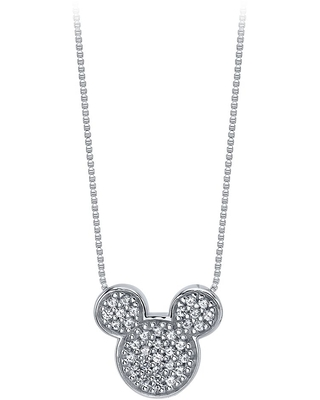 Mickey Mouse Icon Sapphire Pendant Necklace Official shopDisney