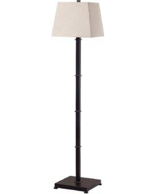 "Alcott Hill Spivey Square 61.5"" Floor Lamp W001477829 Base Finish: Oiled Rubbed Bronze"