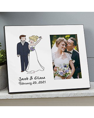 Wedding Couple Personalized Picture Frame by philoSophie's