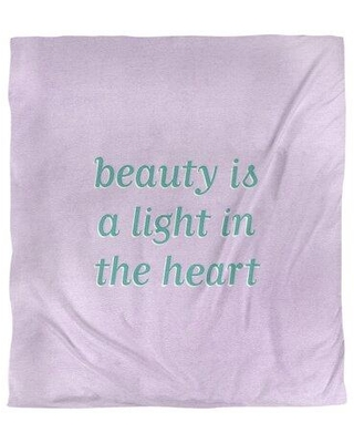 East Urban Home Beauty Inspirational Quote Single Duvet Cover EBKJ4540 Size: King Duvet Cover Color: Purple/Teal Offset