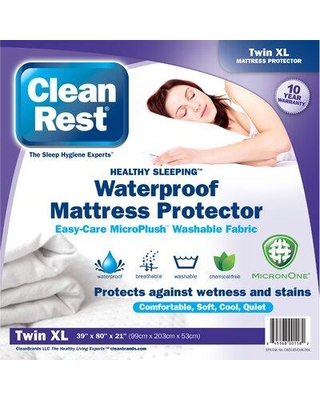 CleanRest Fitted Hypoallergenic Waterproof Mattress Cover (Set of 4) 845168001175 Size: Extra-Long Twin
