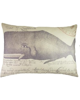 TheWatsonShop Whale Cotton Lumbar Pillow LUM_DFVNAVWHALEDIST