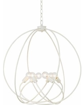 """Hubbardton Forge Orb 22 1/2"""" Wide Gloss White Chandelier"""