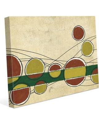 """Click Wall Art Bar Bubbles Yellow and Red Painting Print on Wrapped Canvas CBS0002141CAN Size: 8"""" H x 10"""" W x 0.75"""" D"""