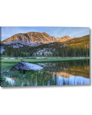 """Millwood Pines 'California Sierra Nevada Grass Lake Reflection' Photographic Print on Wrapped Canvas BI155453 Size: 10"""" H x 16"""" W x 1.5"""" D"""