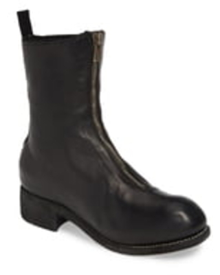 Women's Guidi Front Zip Boot, Size 8.5US - Black
