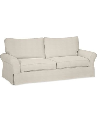 Spectacular Deal On Pb Comfort Roll Arm Slipcovered Grand Sofa 90