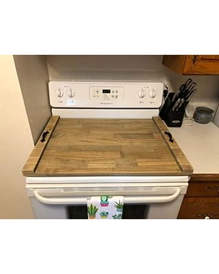 Rustic Stove Cover Monogram Stove Top Tray Wood Stove Tray Decorative Tray Wooden Tray For Stove