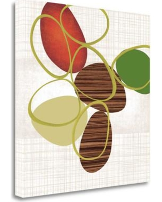 """Tangletown Fine Art 'Pebbles and Loops II' Graphic Art Print on Wrapped Canvas CA318019-2020c Size: 20"""" H x 20"""" W"""