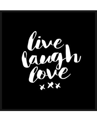 Brayden Studio Brett Wilson Live Laugh Love Single Shower Curtain BRSD5140 Color Black White