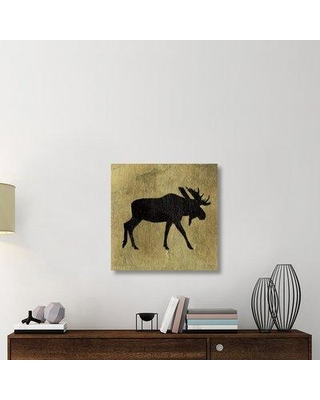 """East Urban Home 'Golden Lodge III' Graphic Art Print on Canvas UBAH6165 Size: 30"""" H x 30"""" W x 1.5"""" D"""