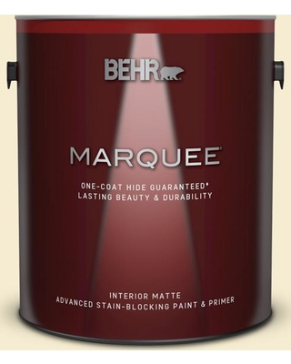 BEHR MARQUEE 1 gal. #380E-2 Lightning White Matte Interior Paint and Primer in One