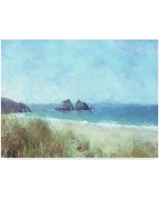 "Highland Dunes 'Cornish View' Acrylic Painting Print on Wrapped Canvas HGLN2225 Size: 35"" H x 47"" W x 2"" D"