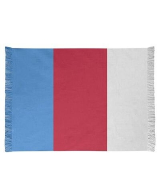 East Urban Home Tennessee Red Football Red/Blue Area Rug FCJK0569 Backing: Yes