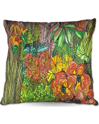 "Ebern Designs Salisbury Couch Tropical Throw Pillow W000388614 Size: 20"" x 20"""
