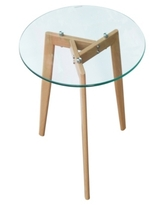 Edgemod Glass Top End Table
