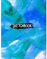 """8.5"""" x 11"""", Personalized Artist Sketchbook: 120 Pages Sketching, Drawing and Creative Doodling (Paperback)"""
