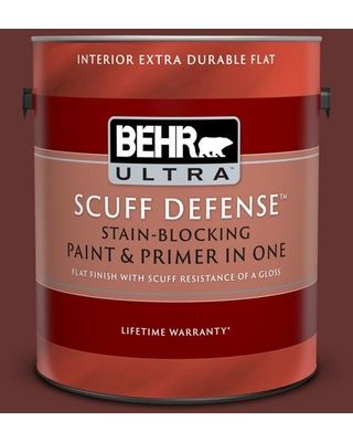 BEHR ULTRA 1 gal. #PPU2-01 Chipotle Paste Extra Durable Flat Interior Paint & Primer