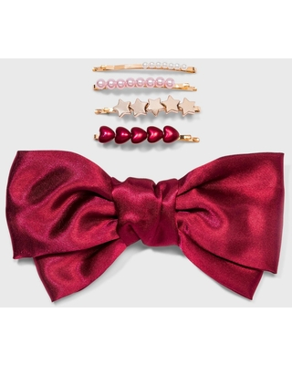 Girls' 5pk Bow and Bobbie Hair Clips and Pins - Cat & Jack