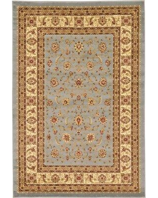 Three Posts™ Fairmount Oriental Light Blue/Beige Area Rug UISF0664 Rug Size: Rectangle 6' x 9'