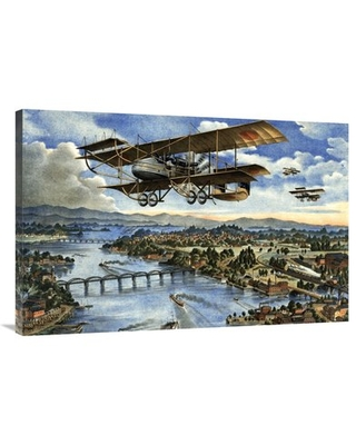 "'Japanese Plane in the Siberian Intervention' Graphic Art Print on Canvas East Urban Home Size: 27"" H x 40"" W x 2"" D"