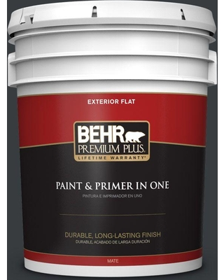 BEHR Premium Plus 5 gal. #750F-7 Deep Space Flat Exterior Paint and Primer in One