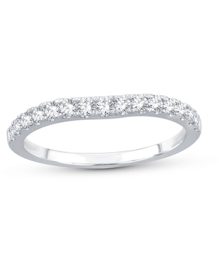 Diamond Wedding Band 3/8 ct tw 14K White Gold