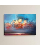 The Best Sales For Brayden Studio Vermilion Cumulus By Scott Naismith Painting Print On Wrapped Canvas Canvas Fabric In Brown Blue Orange Wayfair