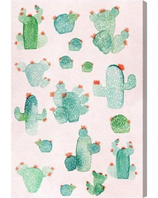 """Latitude Run Prickly Pears Painting Print on Wrapped Canvas LATR1660 Size: 30"""" H x 20"""" W"""