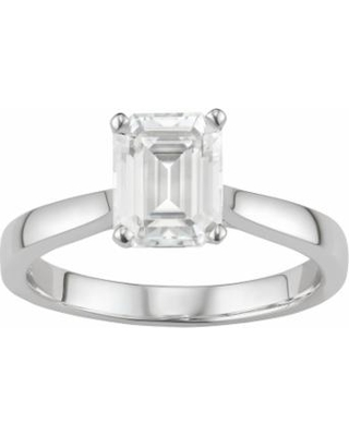 94354b5bd On Sale NOW! 55% Off 14K White Gold Lab-Created Moissanite 2 1/2 Ct ...