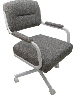 Symple Stuff Honea Upholstered Dining Chair W001010742 Upholstery Color: Gray Frame Color: Gray