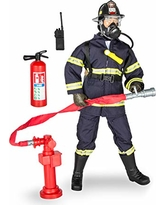 """Click N' Play CNP30640 Urban Firefighting 12"""""""" Action Figure Play Set with Accessories, 12 inches"""