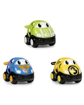 Oball Go Grippers Push Vehicles – Race Car 3 Piece Set, Ages 6 months +