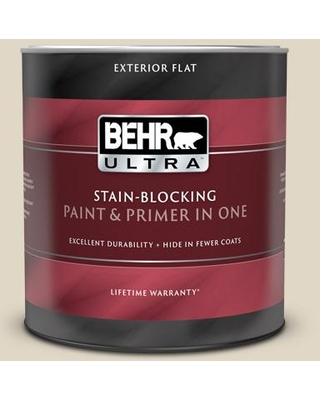 Huge Deal On Behr Ultra 1 Qt Yl W13 Sentimental Beige Flat Exterior Paint And Primer In One