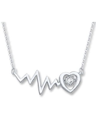 Jared The Galleria Of Jewelry Diamonds in Rhythm 1/10 ct tw Necklace Sterling Silver