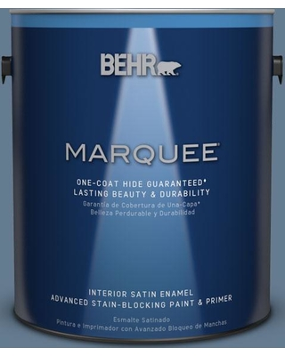 BEHR MARQUEE 1 gal. #S510-5 Skinny Jeans One-Coat Hide Satin Enamel Interior Paint and Primer in One