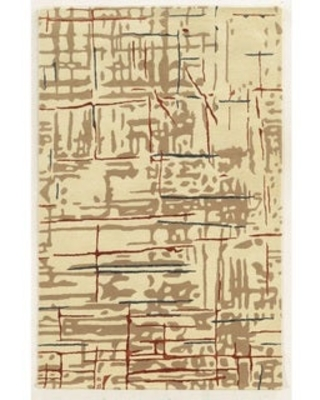 Rizzy Home Hand-tufted Gillespie Avenue New Zealand Wool Accent Rug (9' x 12') - 9' x 12' (9' x 12' - Beige)