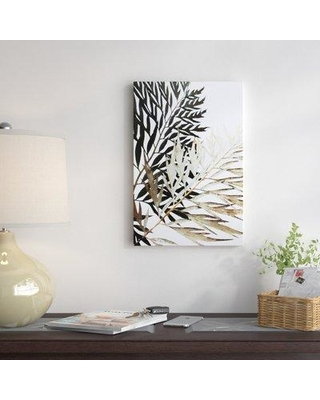 """East Urban Home 'Leaves' Graphic Art Print on Canvas EAOU2941 Size: 18"""" H x 12"""" W x 0.75"""" D"""