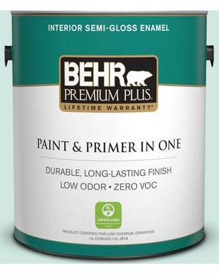 BEHR Premium Plus 1 gal. Home Decorators Collection #hdc-CT-26A Seaglass Semi-Gloss Enamel Low Odor Interior Paint & Primer