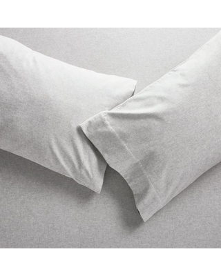 Grey Flannel Pillowcases King Pair
