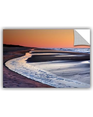 "ArtWall ArtApeelz Tide Pools At Sunrise by Steve Ainsworth Photographic Print on Canvas 0ain099a Size: 12"" H x 18"" W x 0.1"" D"