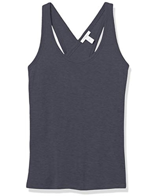 Amazon Brand - Daily Ritual Women's Lightweight Sandwashed Modal Blend Cross-Back Tank Top, Navy, X-Small