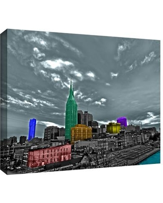"""ArtWall 'Nashville' by Revolver Ocelot Photographic Print on Wrapped Canvas, Canvas & Fabric in Red/Brown/Black, Size 12"""" H x 18"""" W 