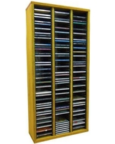 "Wood Shed Multimedia Storage Rack 309- Size: 26.88"" H x 18.75"" W x 6.75"" D, Color: Clear"